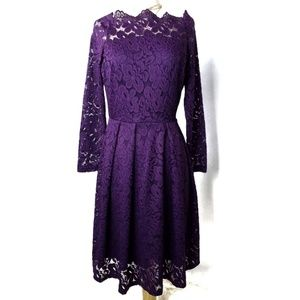 Missmny Purple Lace Midi Dress Size Large NWT